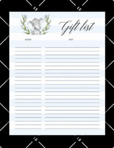 Baby Shower To Do List Template Doc Sample