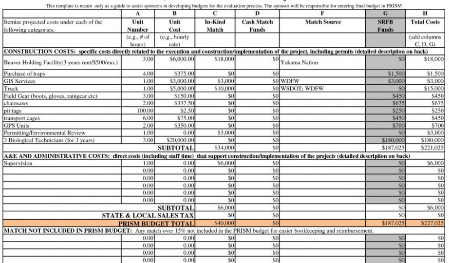 Construction Material List Template Excel Example