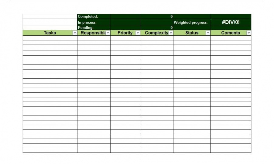 Employee Task List Template Excel Example