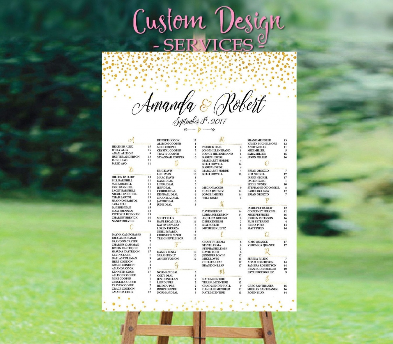 Wedding Seating Chart List Template Pdf Example