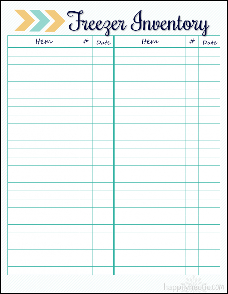 Best Kitchen Inventory List Template Doc Example