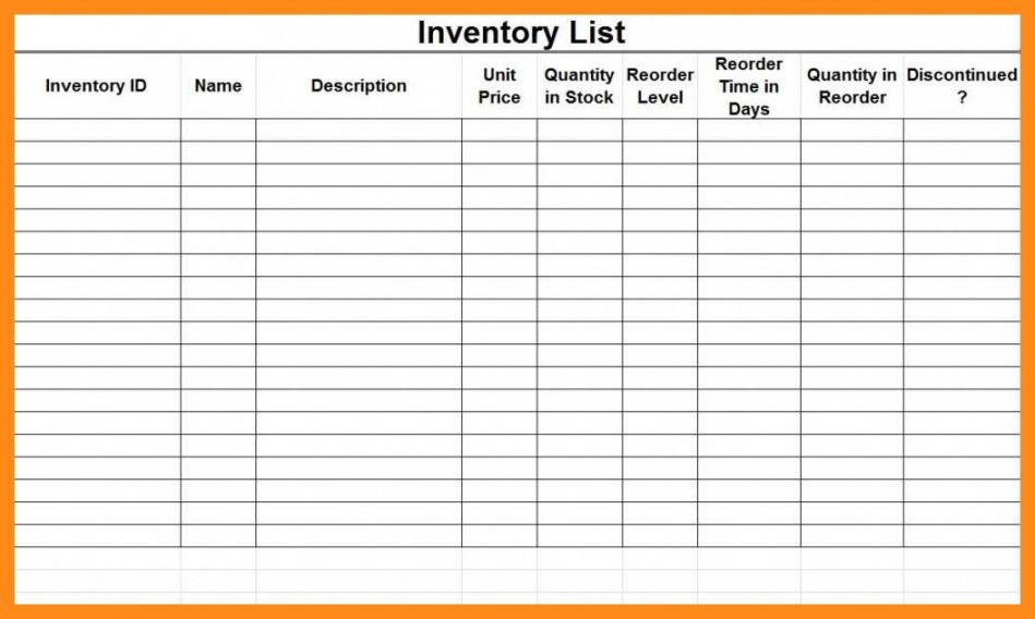 Best Medical Supply Inventory List Template Excel