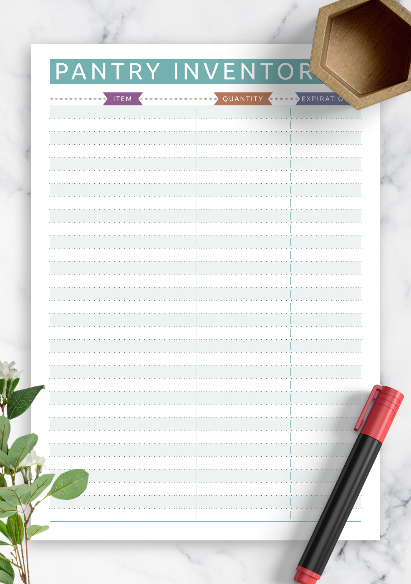 Professional Kitchen Inventory List Template Doc