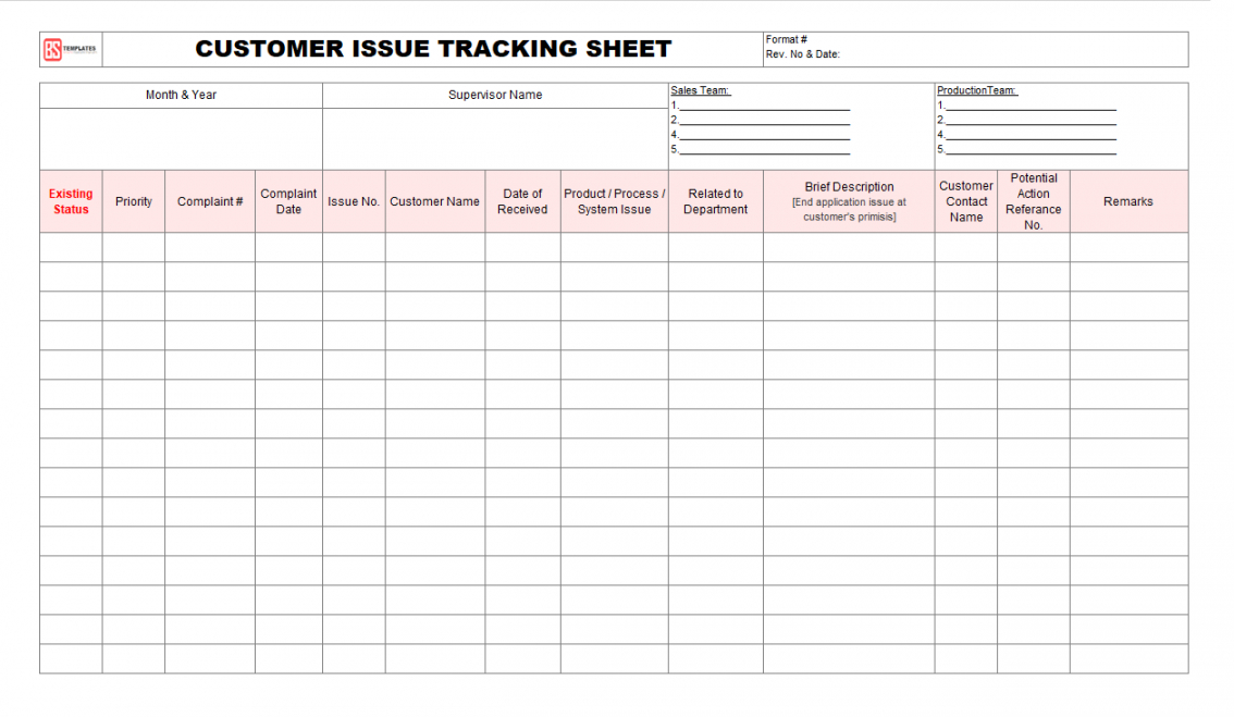 Best Issue Tracking List Template Excel Example