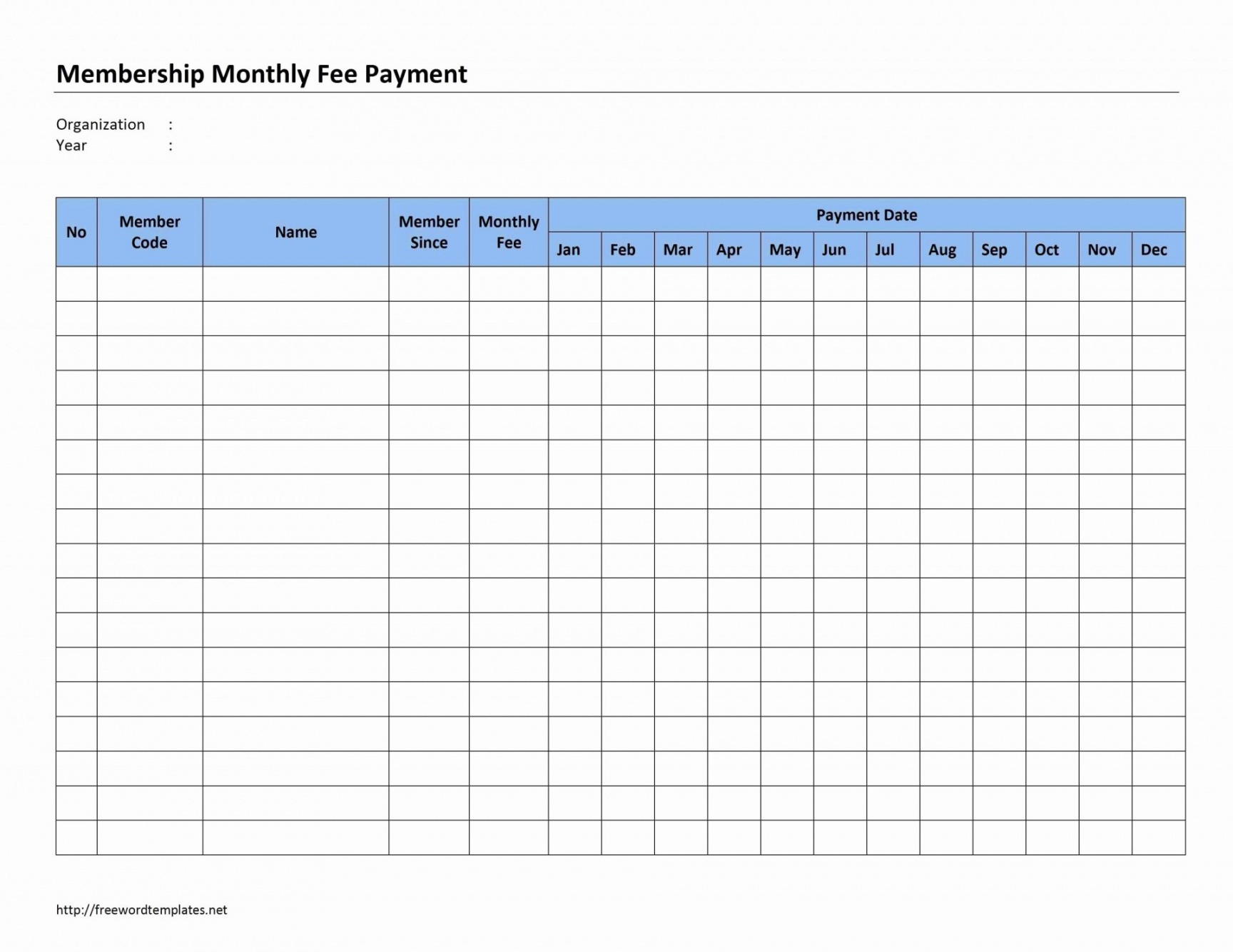 Free Monthly Bill List Template Doc Sample