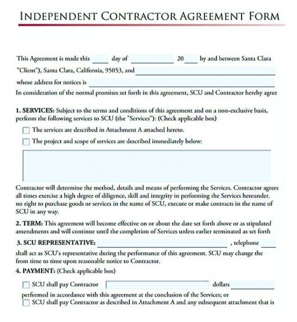Subcontractor Contact List Template Doc Example
