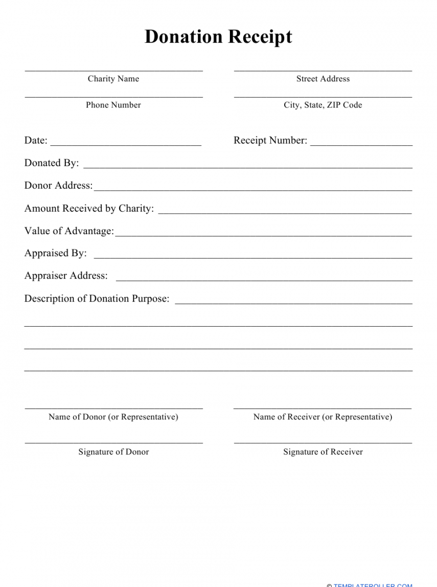 Free Donations List Template Doc