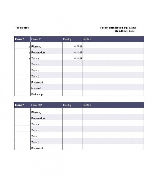 Free Project Team Contact List Template Excel Example