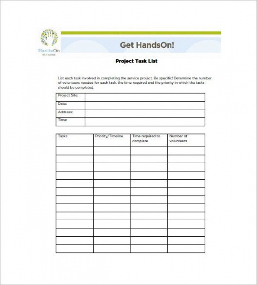 Free Project Team Contact List Template Word