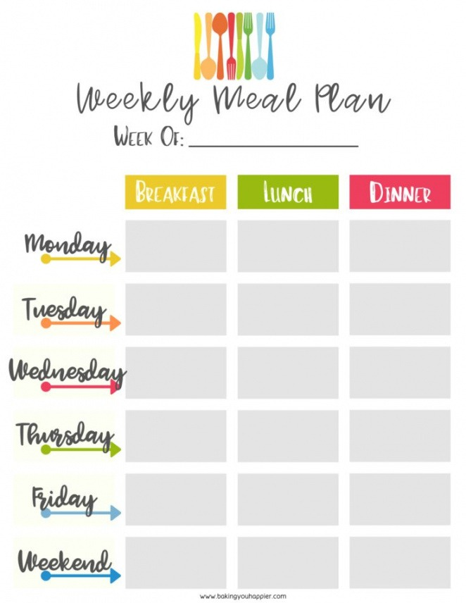 Weekly Shopping List Template Pdf Sample