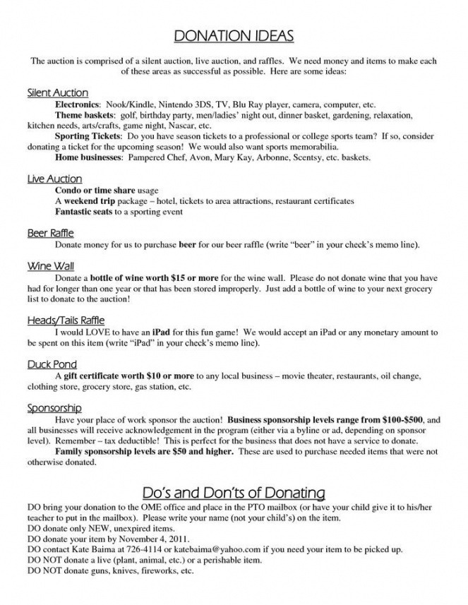Best Donation Wish List Template Excel Sample