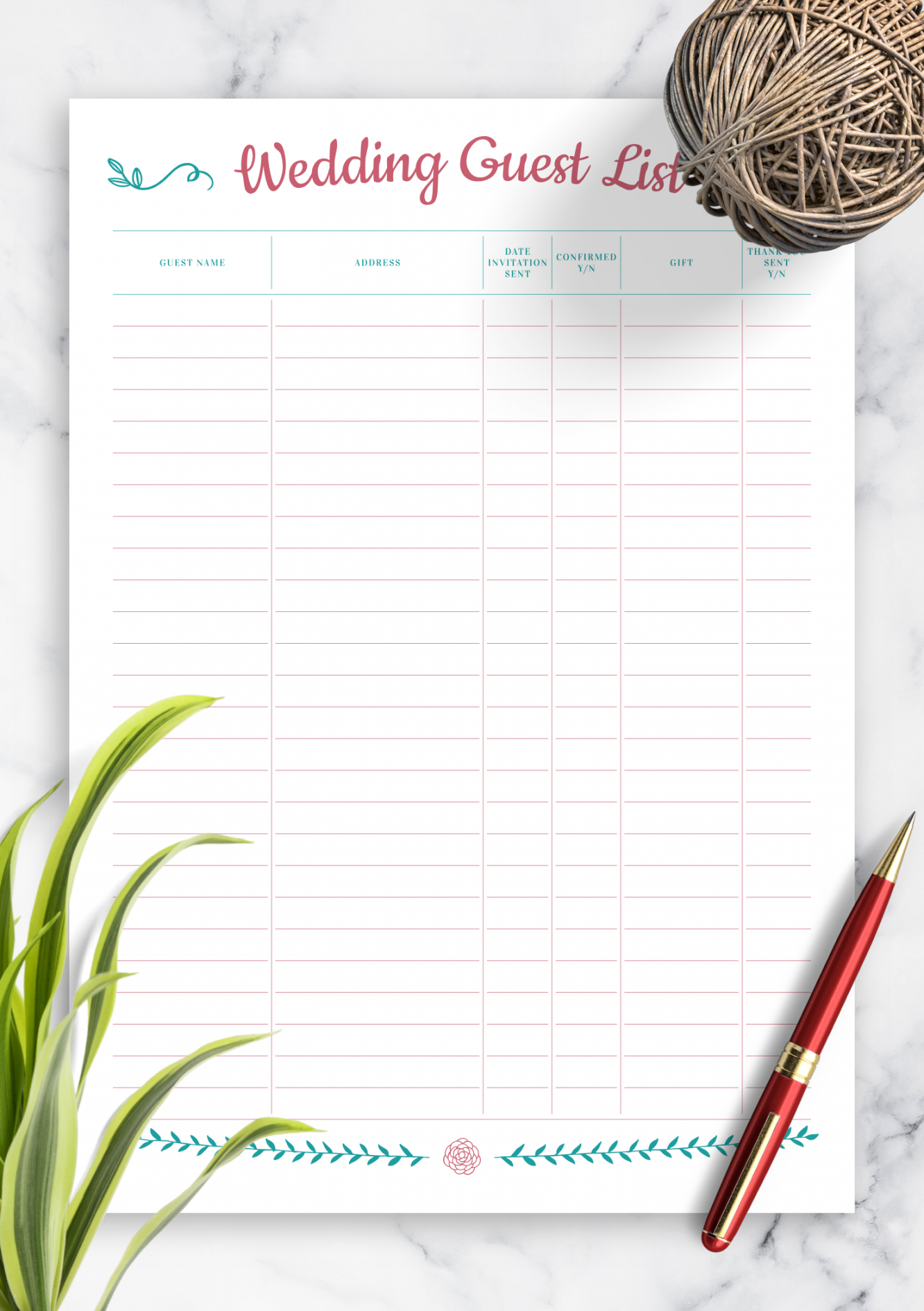 Best Guest List Tracker Template Pdf Example