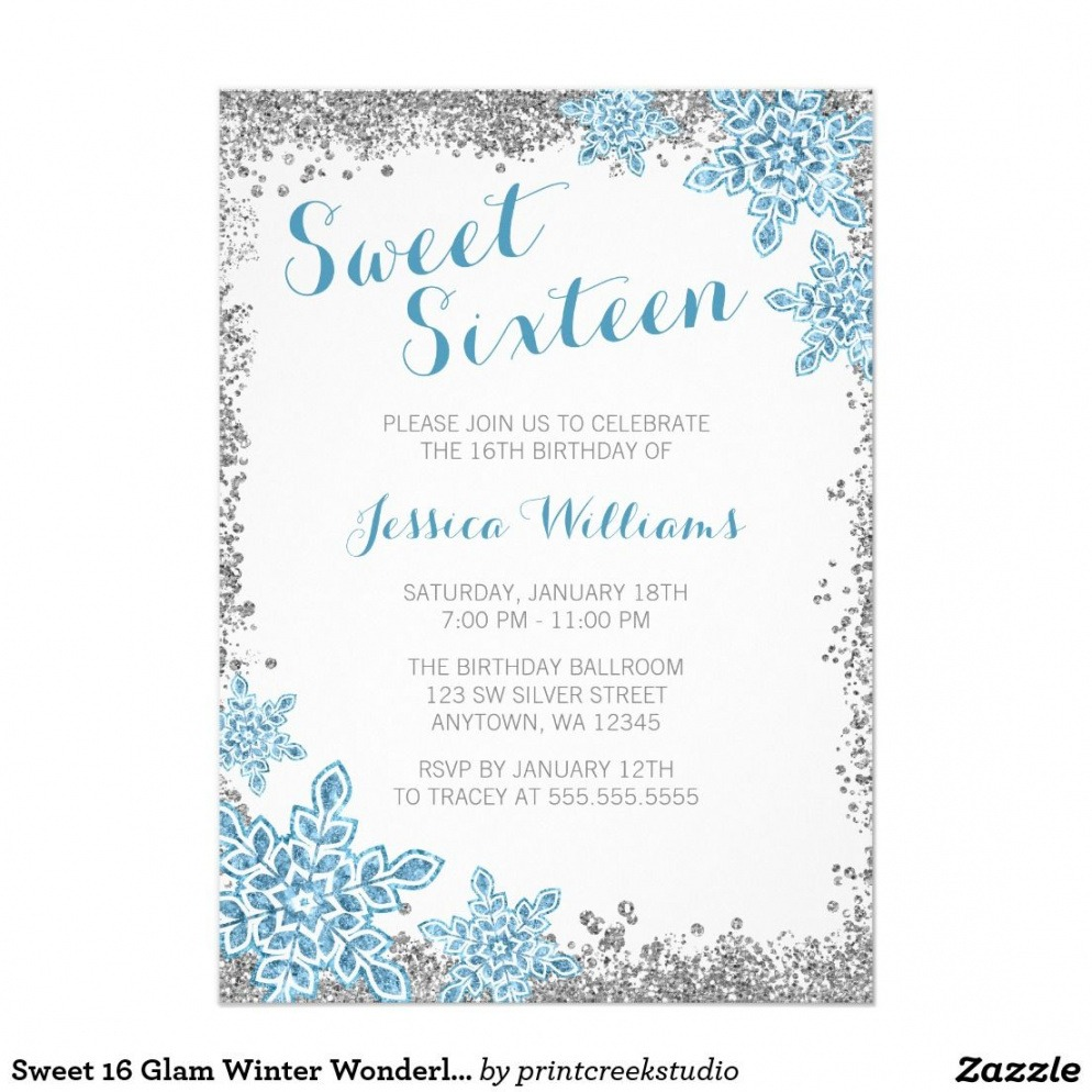 Free Sweet 16 Guest List Template