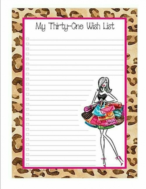 Printable Thirty One Wish List Template Word Example