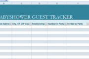 Professional Baby Shower Guest List Template Excel